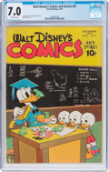 Golden Age (1938-1955):Cartoon Character, Walt Disney's Comics and Stories #61 (Dell, 1945) CGC FN/VF 7.0Off-white pages....