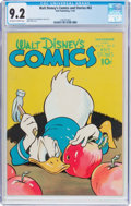 Golden Age (1938-1955):Cartoon Character, Walt Disney's Comics and Stories #62 (Dell, 1945) CGC NM- 9.2Off-white to white pages....