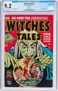 Witches Tales #3 File Copy (Harvey, 1951) CGC NM- 9.2 Cream to off-white pages