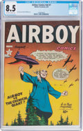 Golden Age (1938-1955):War, Airboy Comics V6#7 (Hillman Fall, 1949) CGC VF+ 8.5 Off-white to white pages....