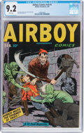 Golden Age (1938-1955):Superhero, Airboy Comics V6#1 (Hillman Fall, 1949) CGC NM- 9.2 White pages....