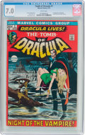 Bronze Age (1970-1979):Horror, Tomb of Dracula #1 (Marvel, 1972) CGC FN/VF 7.0 White pages....