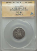 Early Dimes, 1805 10C 4 Berries -- Plugged, Damaged -- ANACS. VG8 Details. JR-2.NGC Census: (3/30). PCGS Population: (23/360). CDN: $82...