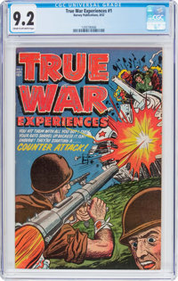 True War Experiences #1 (Harvey, 1952) CGC NM- 9.2 Cream to off-white pages