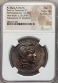 Ancients:Greek, Ancients: ATTICA. Athens. New Style (ca. 151/0 BC). AR tetradrachm(16.48 gm). NGC AU 4/5 - 2/5....