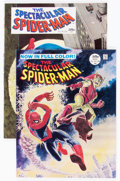 Magazines:Superhero, Spectacular Spider-Man #1 and 2 Group (Marvel, 1968) Condition:Average VF.... (Total: 2 Comic Books)