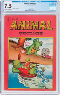 Animal Comics #24 (Dell, 1946) CGC VF- 7.5 Off-white to white pages