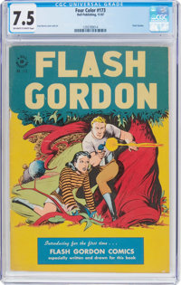 Four Color #173 Flash Gordon (Dell, 1947) CGC VF- 7.5 Off-white to white pages