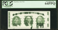 Miscellaneous:Other, Giori Press Front Test Note with Heavy Ink Smears PCGS Very Choice New 64PPQ.. ...