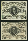 Fractional Currency:Third Issue, Fr. 1236 5¢ Third Issue Choice New. Fr. 1238 5¢ Third Issue Choice New.. ... (Total: 2 notes)