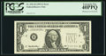Error Notes:Missing Third Printing, Missing Green Overprint Fr. 1921-B $1 1995 Federal Reserve Note. PCGS Extremely Fine 40PPQ.. ...