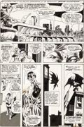 Original Comic Art:Panel Pages, Bernie Wrightson Swamp Thing #7 Story Page 4 Batman OriginalArt (DC, 1973)....