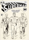 Original Comic Art:Covers, Fred Ray Superman #12 Cover Original Art (DC, 1941)....