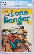 Golden Age (1938-1955):Western, Four Color #151 The Lone Ranger (Dell, 1947) CGC FN/VF 7.0Off-white to white pages....