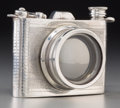Decorative Arts, British:Other , A Pinder Brothers English Pewter Camera Flask, 20th century. Marks:ENGLISH PEWTER, MADE IN ENGLAND, 6 OZ. 3-1/2 h x 4-1...