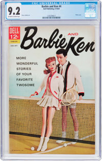 Barbie and Ken #4 (Dell, 1963) CGC NM- 9.2 Off-white to white pages