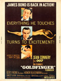 "Movie Posters:James Bond, Goldfinger (United Artists, 1964). Poster (30"" X 40"").. ..."