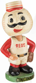 Baseball Collectibles:Others, 1967-72 Cincinnati Reds Green Base Nodder. ...