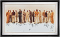 Basketball Collectibles:Others, 2000-01 Miami Heat Team Signed Oversized Frame (14 Signatures). ...
