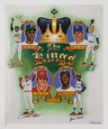 Baseball Collectibles:Others, 1990's Kings of Baseball Signed Poster. ...