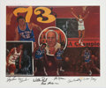Basketball Collectibles:Others, 1973 New York Knicks Team Signed World Champions Lithograph. ...