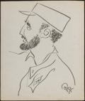 Miscellaneous Collectibles:General, Fidel Castro Original Sketch by Oscar Berger....