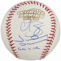 Autographs:Baseballs, Curt Schilling & Johnny Damon Multi-Signed Baseball - 2004World Series. ...