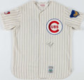 Baseball Collectibles:Uniforms, Ernie Banks Signed Chicago Cubs Jersey. ...