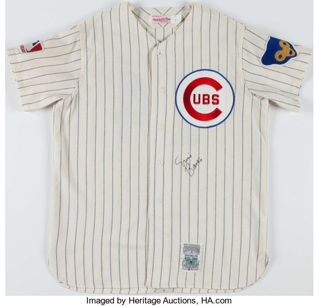 hot sales cab70 01a27 Ernie Banks Signed Chicago Cubs Jersey. ... Baseball ...