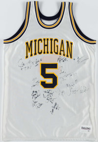1991-92 Michigan Wolverines Multi-Signed Jersey (13 Signatures)