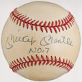 "Autographs:Baseballs, Mickey Mantle ""No. 7"" Single Signed Baseball. ..."