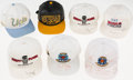 Basketball Collectibles:Others, College Basketball Signed Cap Lot of 7....