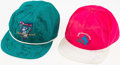 Golf Collectibles:Autographs, Michael Jordan Celebrity Golf Classic & Centel Western OpenMulti-Signed Hats (2). ...