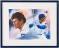 Baseball Collectibles:Others, Ryne Sandberg Signed Giclee....