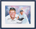 Baseball Collectibles:Others, Mickey Mantle Signed Giclee....