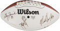 Football Collectibles:Balls, Chicago Bears Greats Multi-Signed Football With Walter Payton. ...