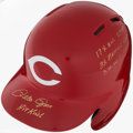 Baseball Collectibles:Others, Pete Rose Signed Cincinnati Reds Batting Helmet. ...