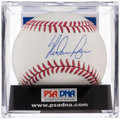Autographs:Baseballs, Nolan Ryan Single Signed Baseball, PSA Gem Mint 10....