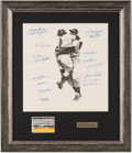 Autographs:Others, 1956 New York Yankees Multi-Signed Oversized Photograph. ...