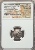 Ancients:Greek, Ancients: MACEDONIAN KINGDOM. Alexander III the Great (336-323 BC).AR drachm (4.07 gm). NGC XF 5/5 - 3/5....