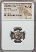 Ancients:Celtic, Ancients: DANUBIAN CELTS. Imitating Alexander. Ca. 2nd-1stcenturies BC. AR drachm. NGC Choice VF....