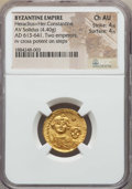 Ancients:Byzantine, Ancients: Heraclius & Heraclius Constantine (613-641). AVsolidus (4.40 gm). NGC Choice AU 4/5 - 4/5. ...