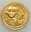 Ancients:Byzantine, Ancients: Heraclius & Heraclius Constantine (613-641). AVsolidus (4.45 gm). Good VF. ...