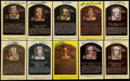 Autographs:Post Cards, Baseball Greats Signed Hall of Fame Plaque Postcard Lot of 10. ...