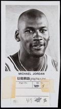 Basketball Collectibles:Photos, 1980's Michael Jordan Original Photograph - Libra Graphics. ...