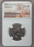 Ancients:Roman Provincial , Ancients: EGYPT. Alexandria. Commodus (AD 177-192). BI tetradrachm.NGC Choice VF....
