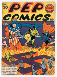 Pep Comics #20 (MLJ, 1941) Condition: GD