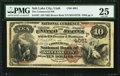 National Bank Notes:Utah, Salt Lake City, UT - $10 1882 Brown Back Fr. 487 The Commercial NB Ch. # (P)4051. ...