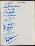 Baseball Collectibles:Publications, Baseball Greats Multi-Signed Hardcover Book. ...