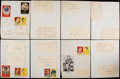 Autographs:Index Cards, 1959 New York Giants Signed Sheets. ...